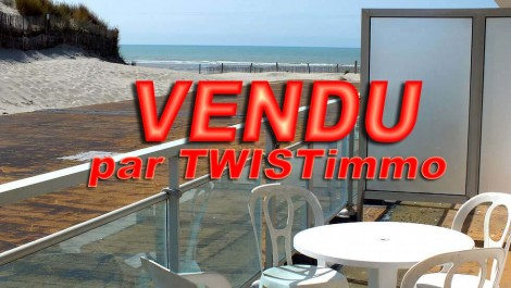 ALREADY SOLD – Fort-Mahon-Plage T2 with cabin and garage sea view